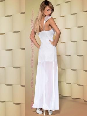 Сорочка до щиколоток Obsessive Feelia Gown сзади