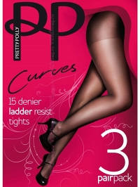 Pretty Polly GK30 15D Ladder Resist Tights 3PP