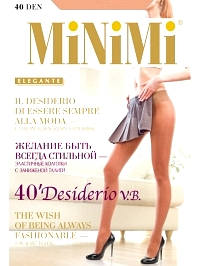 Колготки Minimi DESIDERIO 40 VITA BASSA
