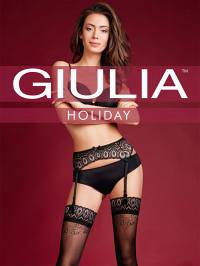 Комплект Giulia HOLIDAY 02 чулки с поясом и подвязкой