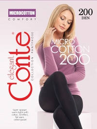 Колготки женские Conte elegant MICROCOTTON 200 XL